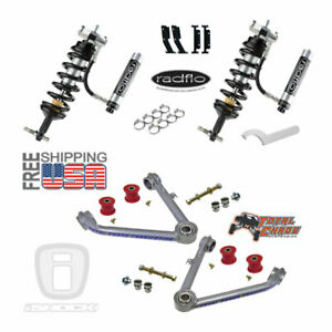 Radflo 2 5 Shocks W Res Total Chaos Mid Travel Chevy Silverado Gmc Sierra Front