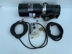 Concentric Snow Plow Hydraulic Power Unit 12v Dc Monarch 44486 01 Remanufactured