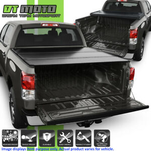 Hard Tri Fold Tonneau Cover For 2007 2018 Toyota Tundra Crewmax 5 5ft 66 Bed
