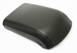 Fits 13 16 Ford Escape Black Real Leather Center Console Lid Armrest Cover
