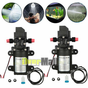2 X 130psi 6l min 70w Water High Pressure Diaphragm Self Priming Pump Kit Dc12v