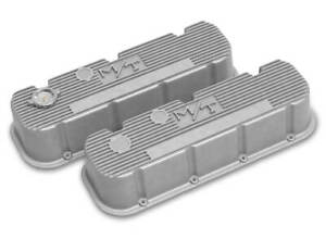 Holley 241 150 Natural Tall Finned M T Valve Covers For Big Block Chevy Engines