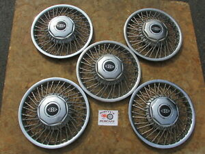 1985 89 Buick Riviera 14 Wire Wheel Covers Hubcaps Lot Of 5 No Mounting Parts