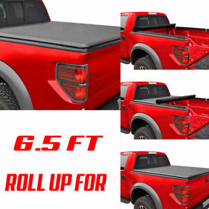 6 5ft Truck Bed Lock Roll Up Tonneau Cover Fit Chevy Silverado Gmc 1500 2500