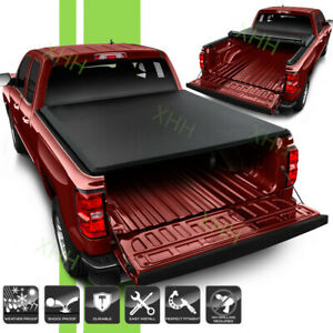 Soft 5 8ft Truck Bed Roll Up Tonneau Cover Fit Chevy Silverado 1500 2500 3500