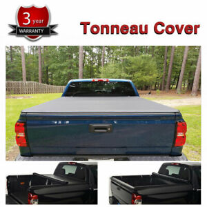 5 8ft Truck Rear Bed Cover Roll Up Tonneau Cover For Chevy Silverado Sierra 1500