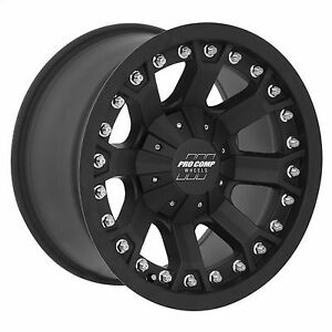 Pro Comp 33 Series Grid 17x9 Wheel With 6 On 5 5 Bolt Pattern Matte Black