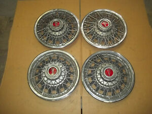 80 81 82 Pontiac Phoenix Hubcap Rim Wheel Cover Hub Cap 13 Wire Spoke Oem Set 4