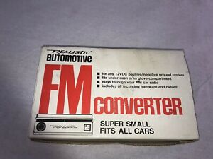 Nos Realistic Automotive Fm Converter 12 1348 Radio Shack For Am Car Radios New
