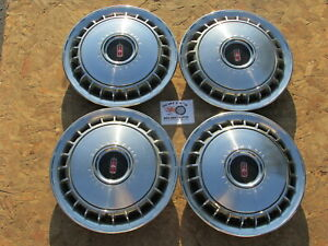 1967 Oldsmobile Cutlass F85 14 Fin Style Wheel Covers Hubcaps Set Of 4