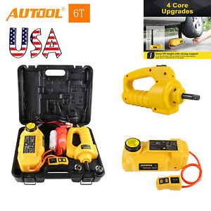 Autool Car Lifting Repair Kits 6ton 12v Electric Hydraulic Jacks Electric Wrench
