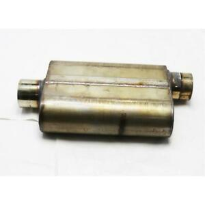 Stainless Steel Chamber Muffler 3 Inch Offset Centered