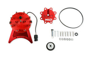 Msd 85201 Front Drive Distributor With Adjustable Cam Sync Big Block Chevy V8 S