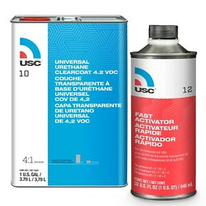 Usc 10 Universal Urethane Clearcoat 1 Gal With 12 Fast Activator 1 Quart