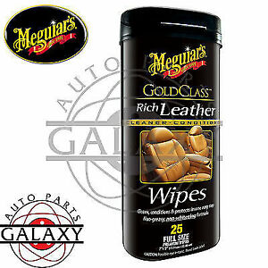 Meguiar S G10900 Gold Class Rich Leather Cleaner Conditioner Wipes 25 Pack
