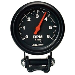 Autometer 2891 Z Series Air Core Pedestal Tach 6k Rpm 2 5 8 Inch