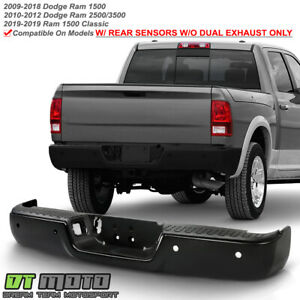 2009 2018 Dodge Ram 1500 Sensor Holes W O Dual Exhaust Black Rear Step Bumper