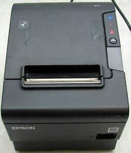 Epson Tm t88vi M3348a Thermal Receipt Printer Ethernet usb serial With Adapter
