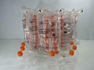 Large Lot Corning Tissue Culture Flask 25 Cm Canted Neck W Plug Seal Cap 430168