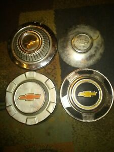 4 Chevy Chevrolet Vintage Hub Caps Bow Tie Lot