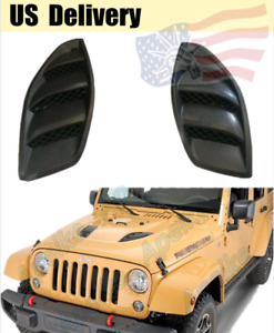 Hood Vents Cover Power Engine Inlet For 10th Avvniversary Jeep Wrangler Jk 07 18