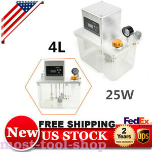 4l Lubrication Pump Cnc Digital Electronic Timer Lcd Auto Oiler 25w 2800 60hz