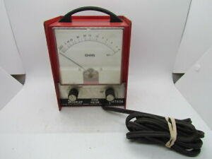 Vintage Snap On Mt806 Mechanic S X1 X100 X1000 Ohm Meter W Handle