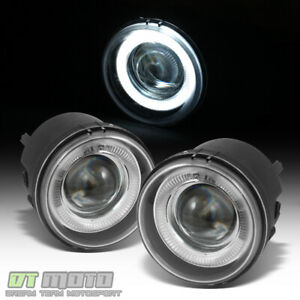 2005 2009 Dodge Charger Caravan Caliber Nitro Led Halo Projector Fog Lights Pair
