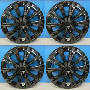 2018 2020 Toyota Camry Style 530 16blk 16 Black Hubcaps Wheel Covers New Set