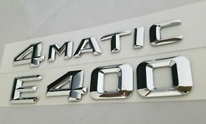 E400 4matic Fit Mercedes Rear Trunk Nameplate Badge Emblems Numbers Letters