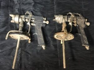 Lot Of 2 Commercial Spray Guns Sanborn And Jet Brands Air Tools Pneumatic