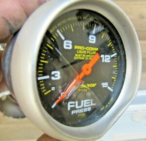 Autometer Pro Comp Liquid Filled Fuel Pressure Gauge