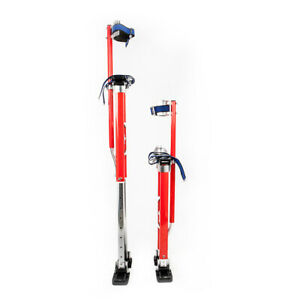 Professional Red 24 40 Height Adjustable Aluminum Drywall Stilts For Painting