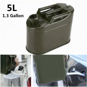 5l Portable Motorcycle Spare Fuel Tank Metal Tank Car Petrol Oil Container Can