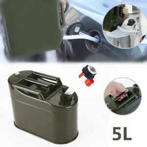 5l Auto Motorcycle Spare Fuel Tank Jerrycan Metal Car Petrol Oil Container Can