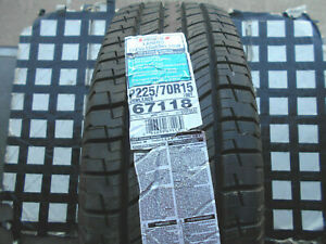 2 Never Used Tires 225 70 15 Uniroyal Laredo Cross Country Tour P225 70r15 W L