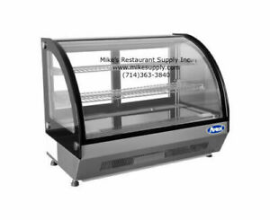 New 28 Refrigerated Curved Glass Counter Top Display Case Atosa Crdc 35 2653