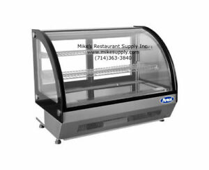 New 36 Refrigerated Counter Top Curved Glass Display Case Bakery Crdc 46 2654