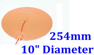 10 254mm 400w 3m Thermister Delta 3d Printer Heatbed Round Silicone Heater Pad