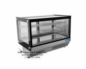 New 28 Refrigerated Counter Top Glass Display Case Bakery Atosa Crds 42 2655