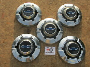 1968 74 Chevy C20 C30 3 4 Ton Pickup Truck Blazer Dog Dish Hubcaps Lot Of 5