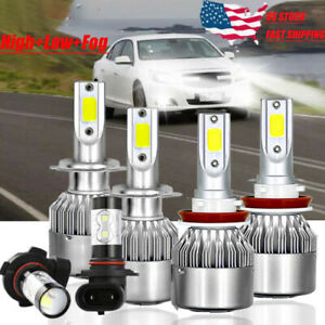 6xcombo White Led Headlight Bulbs High Low Fog Light For 2013 2015 Chevy Malibu