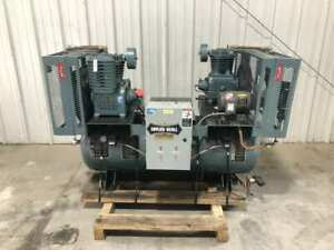 Saylor beall X 720 80 ic 2hp Two stage Duplex Air Compressor 1755rpm 80 Gal 3ph