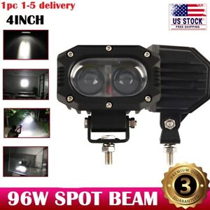 4inch 48w Spot Led Work Light Fog Reverse Cube Pod For Offroad Truck Suv Atv 12v