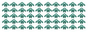 50 Plastic Green Roof Ice Guard Snow Guard Stops For Standing Seam Metal Roofing