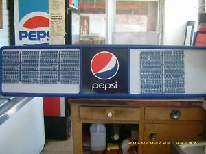 L k New 6ft Pepsi Menu Board W 4 Sets Of Letters numbers Symbols