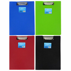 Plastic Folder Clipboard Color Full Letter Size Blue Green Red Black you Choice