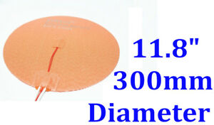 11 8 300mm 500w W 3m Thermistor Circular Round Heat Bed Ce Silicone Heater Pad
