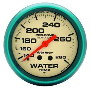 Autometer 4235 Ultra Nite Mechanical Water Temperature Gauge