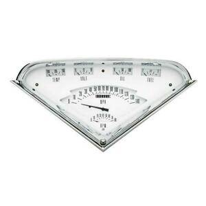 Classic Instruments Tf01w 1955 59 Chevy Truck Gauge Set White Face